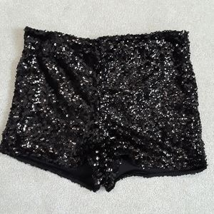 Black  party  shorts, never  worn.